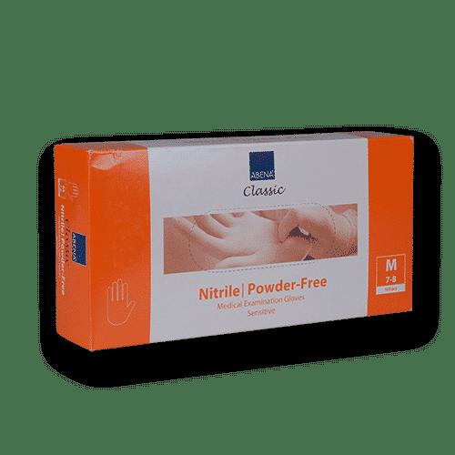 Handschoenen-nitril-oranje-m
