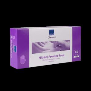 Handschoenen-nitril-paars-xs