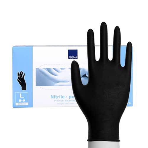 handschoenen abena nitril bescherming zwart